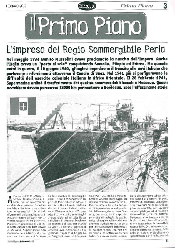 L'Impresa del Regio Somergibile Perla-1